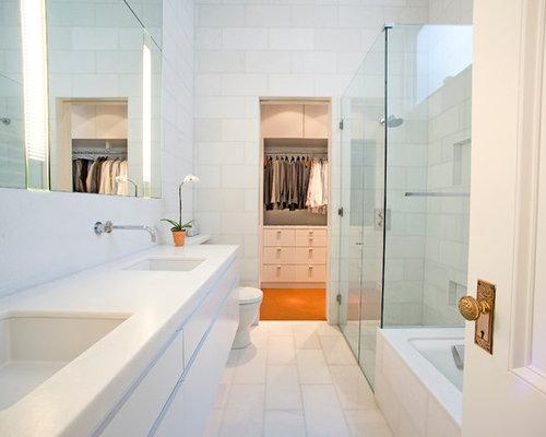 master bath walk-in closet | houzz