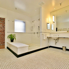 Industrial Bathroom by Todd Davis Architecture