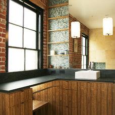 Industrial Bathroom by Todd Davis Architecture