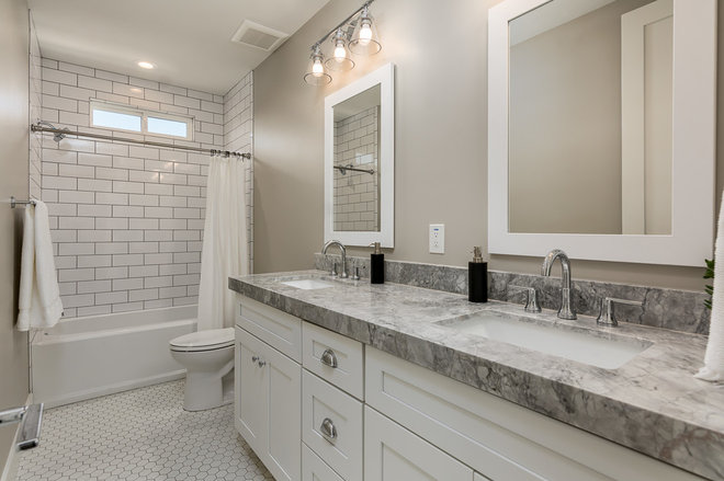 Transitional Bathroom by Yonker Construction