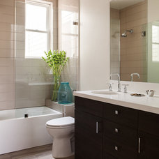 Transitional Bathroom by Christy Allen Designs