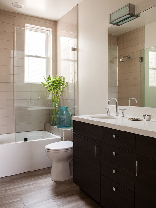 Best Beige Bathroom Tiles Design Ideas & Remodel Pictures | Houzz