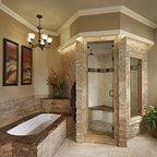 Spa Shower With Steam Bath Traditional Bathroom
