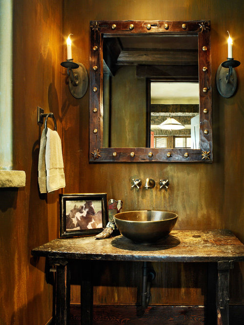 Stacked timber frame equestrian horse ranch shadow for Ranch bathroom ideas