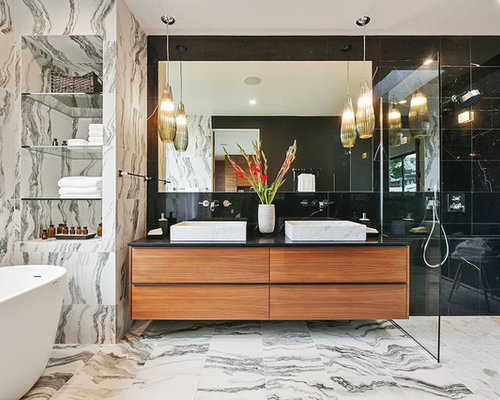 Modern Bathroom Layouts modern bathroom ideas, designs & remodel photos | houzz
