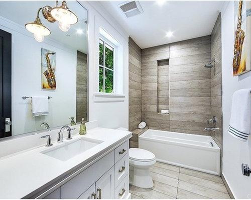kleine badezimmer ideen design bilder houzz. Black Bedroom Furniture Sets. Home Design Ideas