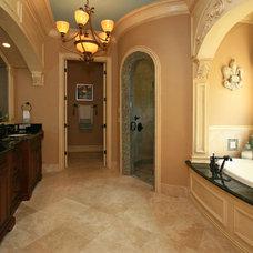 Mediterranean Bathroom by McNally Construction