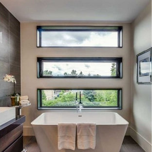 75 Most Popular Master Bathroom With Glass Countertops