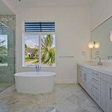 Contemporary Bathroom by Kukk Architecture & Design P.A.