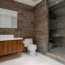 Wood Grain Tile Bath