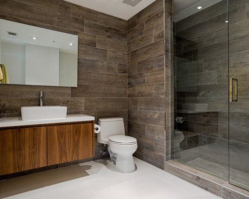 SaveEmail - Wood Tiles Bathroom Houzz