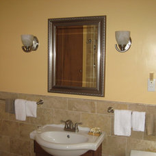 Mediterranean Bathroom by E. V. JAMES CO., INC. MASTER REMODELORS-BUILDERS