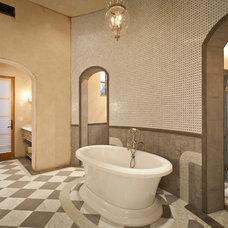 Mediterranean Bathroom by BedBrock Developers, LLC