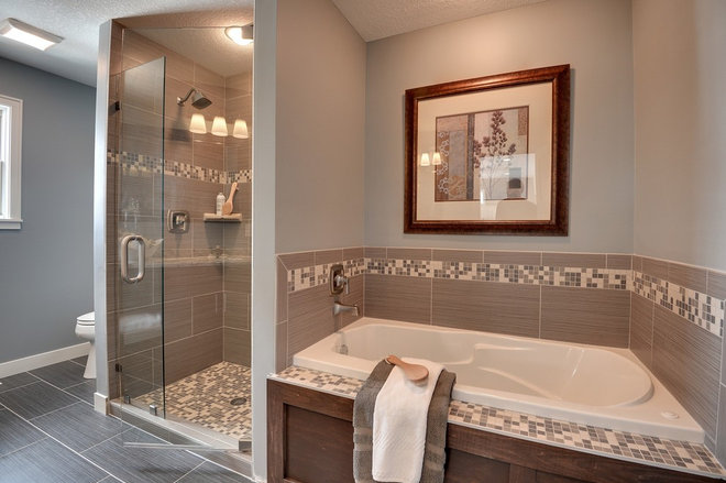 Traditional Bathroom by Sustainable Nine Design + Build