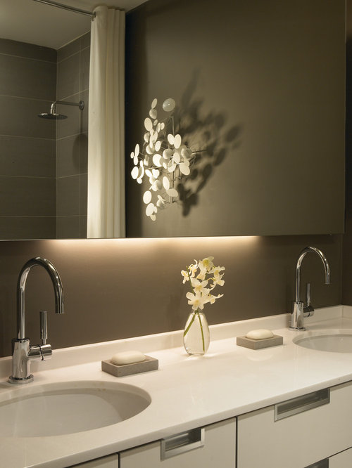 bathroom mirrors with lights behind light mirror houzz 22263