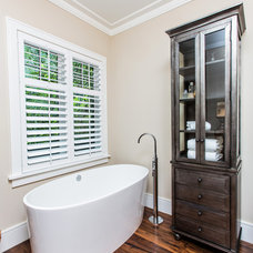 Transitional Bathroom by Archer Construction