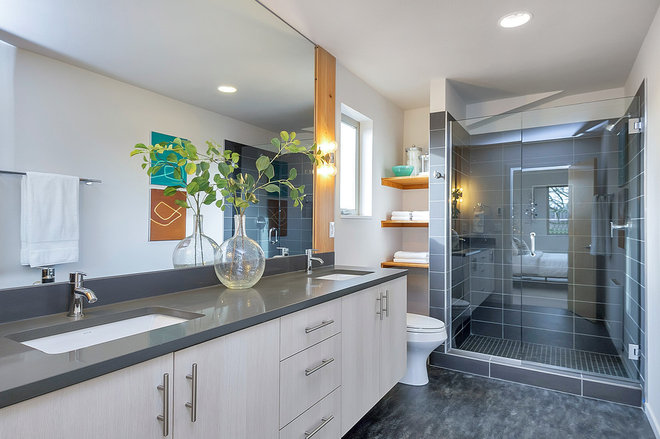 Transitional Bathroom by Stanley Photo