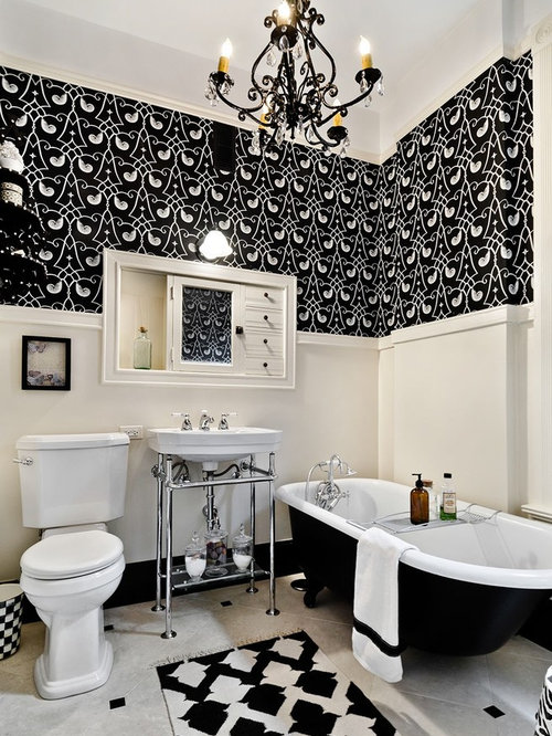 Black and beige bathroom design ideas remodels photos for Beige and black bathroom ideas