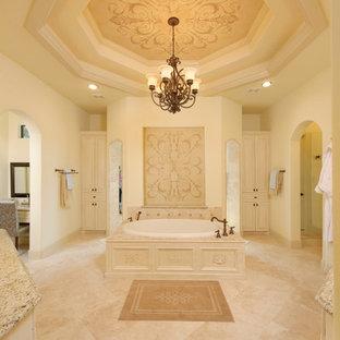 Bathroom - traditional bathroom idea in Houston with granite countertops
