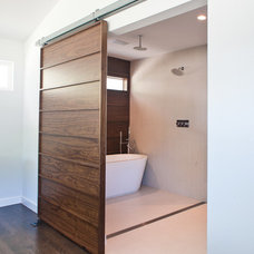 Contemporary Bathroom by Modern Craft Construction, LLC