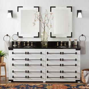 "72"" Bonner Reclaimed Wood Double Vanity for Undermount Sink – Whitewash Pine"