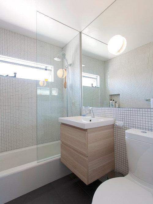 Small bathroom cabinet houzz for Bathroom cabinets okc
