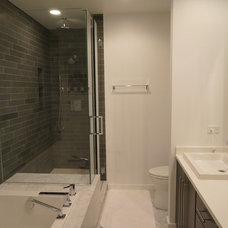 Modern Bathroom by Fieldcrest Builders Inc