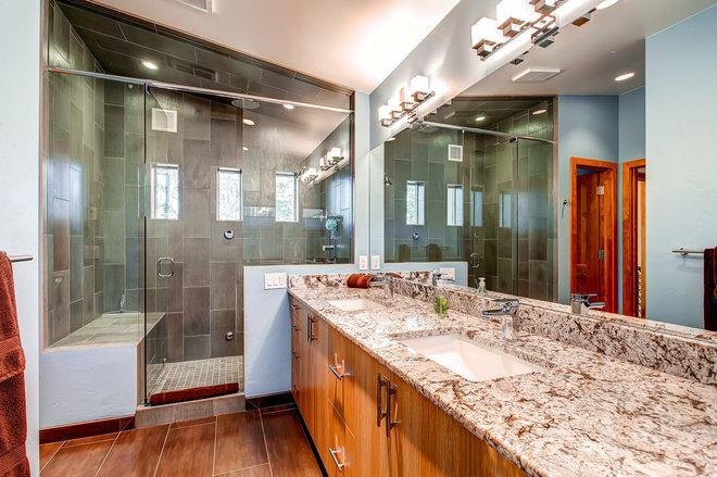 Contemporary Bathroom by Pinnacle Mountain Homes