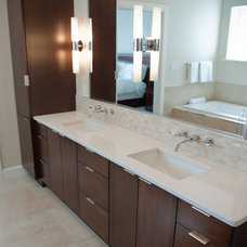 contemporary bathroom by A & R Cabinetry Ltd.