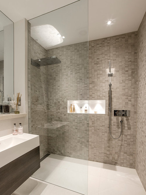 inspiration for a contemporary bathroom remodel in london - Luxury Showers