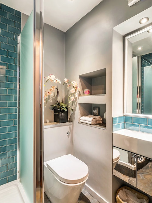 small toilet room design. Small eclectic bathroom photo in Edinburgh Toilet Space  Houzz