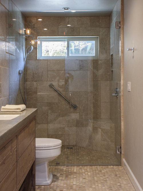 1 000 Transitional Zero Entry Shower Bathroom Design Ideas