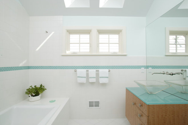 Contemporary Bathroom A Classic Home With A Modern Day Surprise