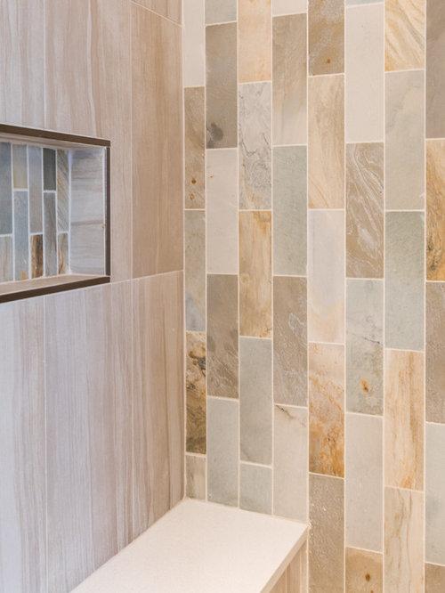 Salles de bains et wc de taille moyenne avec un carrelage orange photos et - Taille moyenne salle de bain ...