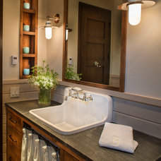 Rustic Bathroom by Jennifer Hoey Interior Design