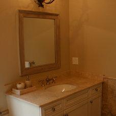 Mediterranean Bathroom by Artisan Kitchens LLC