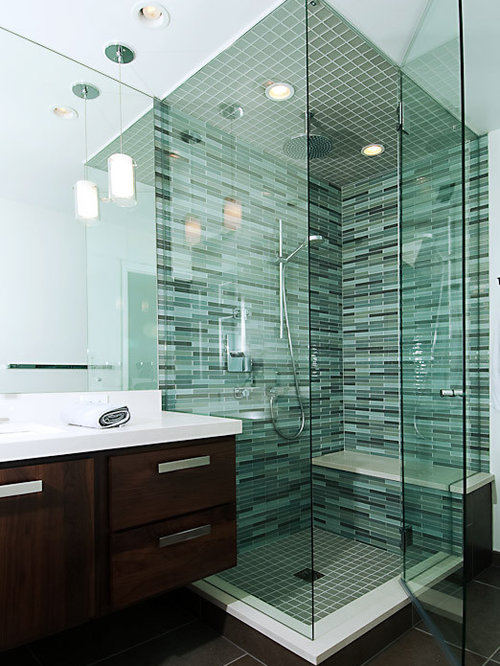 Bathroom Remodel Glass Tile clear glass tile | houzz