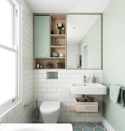 Scandinavian Bathroom by Forgeworks Architects Ltd