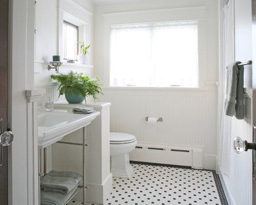 Example of a mid sized arts and crafts 3 4 doorless shower design inGuest Bathroom   Houzz. Guest Bathroom. Home Design Ideas