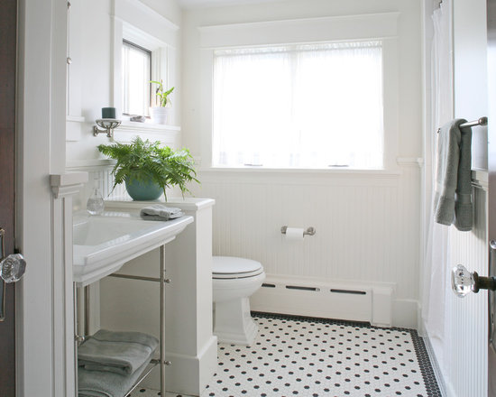 Bathroom Designs Black And White Tiles black white tile flooring | houzz