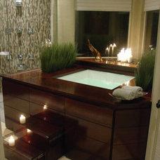Asian Bathroom by Hilsabeck Design Associates, Inc.