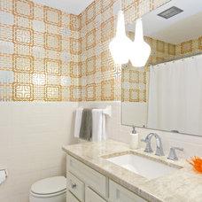 Contemporary Bathroom by Alison Besikof Custom Designs