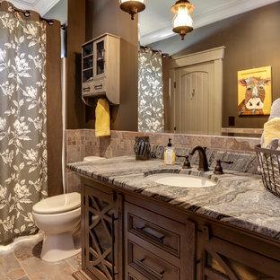 Salle de bain avec un sol en galet Raleigh : Photos et idées déco de ...