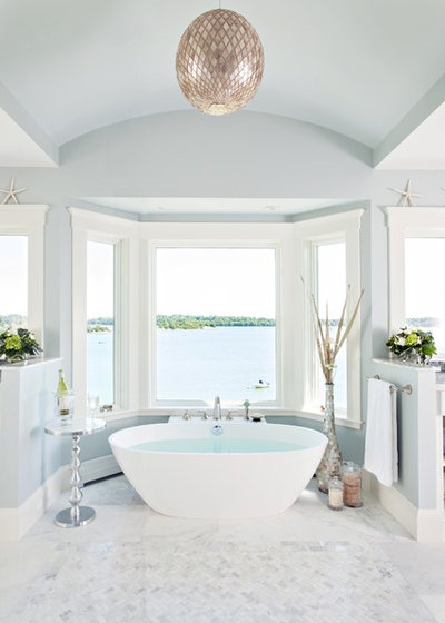 Beach Style Bathroom by Roomscapes Cabinetry and Design Center