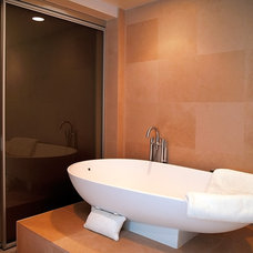 Contemporary Bathroom by Beyond Home Theater