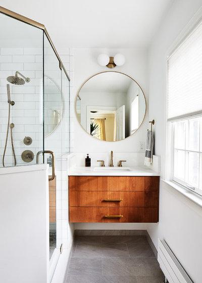 Contemporary Bathroom by Carolyn Elleman - Case Design Remodeling Inc.