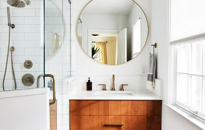 2 Compact-Bathroom Makeovers, for Her and for Him