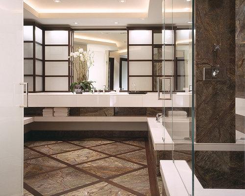 Asiatische badezimmer mit steinplatten ideen f r die for Badezimmer ideen asiatisch
