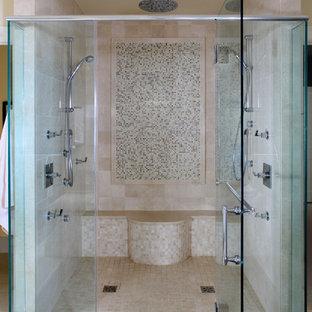 Bathroom - contemporary mosaic tile bathroom idea in DC Metro