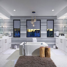 Modern Bathroom by Crown Jewell Entertainment Systems, Inc.